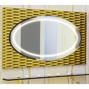 Sanflor Зеркало Белла 100 шоколадный, патина золото
