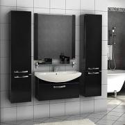 Мебель для ванной Акватон Ария 80 черный глянец