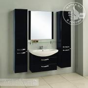 Мебель для ванной Акватон Ария М 80 черный глянец