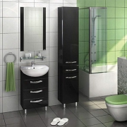 Мебель для ванной Акватон Ария Н 50 черный глянец