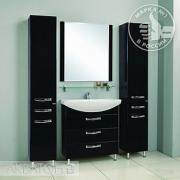 Мебель для ванной Акватон Ария Н 80 черный глянец