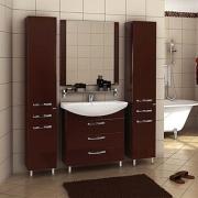 Мебель для ванной Акватон Ария Н 80 темно-коричневая