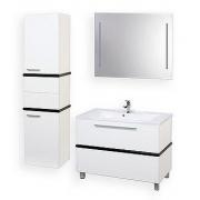 Мебель для ванной Акватон Турин 100 с черной панелью
