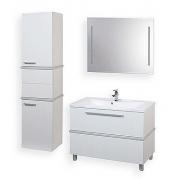 Мебель для ванной Акватон Турин 100 с серебристой панелью
