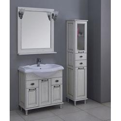 Мебель для ванной Акватон Жерона 85 белое серебро