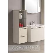 Шкаф-пенал Акватон Севилья белый жемчуг низкий
