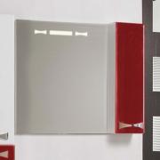 Зеркало-шкаф Акватон Диор 80 бело-бордовый