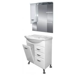 Misty Мебель для ванной Дрея 65 L с 2 ящиками и б/к
