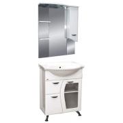 Misty Мебель для ванной Дрея 65 R с 1 ящиком стекло
