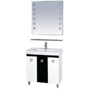 Misty Мебель для ванной Эллада 75 черно-белая