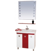 Misty Мебель для ванной Эллада 75 красно-белая
