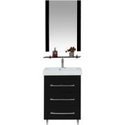 Misty Мебель для ванной Эмилия 60 напольная черная
