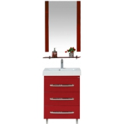 Misty Мебель для ванной Эмилия 60 напольная красная