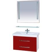 Misty Мебель для ванной Эмилия 90 подвесная красная