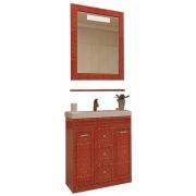 Misty Мебель для ванной Fresko 75 красная краколет