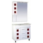 Misty Мебель для ванной Кармен 80 L красный декор