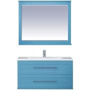 Misty Мебель для ванной Марта 100 подвесная бирюзовая