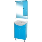 Misty Мебель для ванной Мисти 50 R голубая