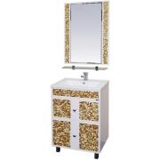Misty Мебель для ванной Морена 60 золотая мозаика