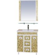 Misty Мебель для ванной Морена 75 золотая мозаика
