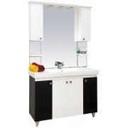 Misty Мебель для ванной Олимпия 105 прямая, венге/белая