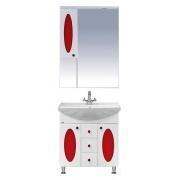 Misty Мебель для ванной Сидней 75 L красная