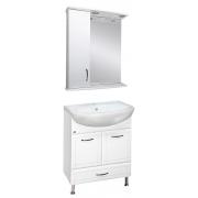 Misty Мебель для ванной Уют 60 L с нижним ящиком белая