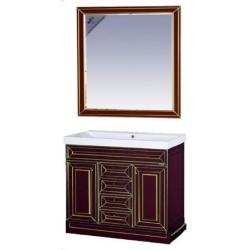 Misty Мебель для ванной Vena 105 бордо патина