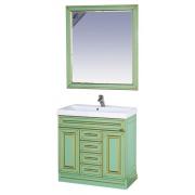 Misty Мебель для ванной Vena 90 салатовая патина
