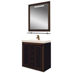 Misty Мебель для ванной Venezia 90 черная патина