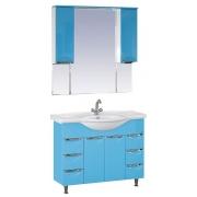 Misty Мебель для ванной Жасмин 105 голубая, эмаль