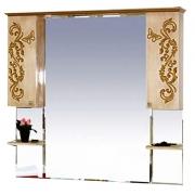 Misty Зеркальный шкаф Бабочка 120 бежевая патина