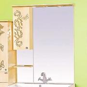 Misty Зеркальный шкаф Бабочка 90 L бежевая патина