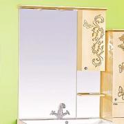 Misty Зеркальный шкаф Бабочка 90 R бежевая патина