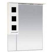 Misty Зеркальный шкаф Кармен 80 L черное стекло
