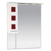 Misty Зеркальный шкаф Кармен 80 L красный