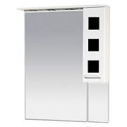 Misty Зеркальный шкаф Кармен 80 R черное стекло