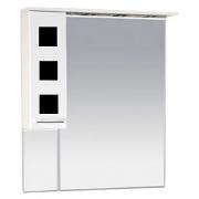 Misty Зеркальный шкаф Кармен 90 L черное стекло