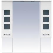 Misty Зеркальный шкаф Квадро 105 белый