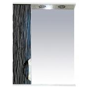 Misty Зеркальный шкаф Лорд 55 L бело-черная пленка