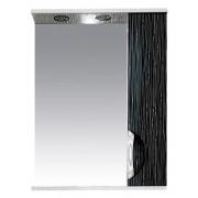 Misty Зеркальный шкаф Лорд 55 R бело-черная пленка