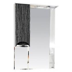 Misty Зеркальный шкаф Лорд 65 L бело-черный
