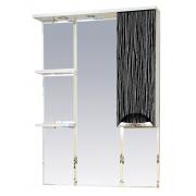 Misty Зеркальный шкаф Лорд 75 R бело-черная пленка