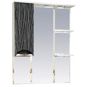 Misty Зеркальный шкаф Лорд 85 бело-черный L