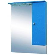 Misty Зеркальный шкаф Мисти 60 R голубой