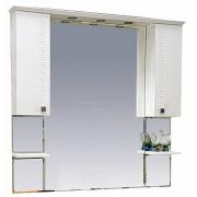 Misty Зеркальный шкаф Олимпия 105 белый