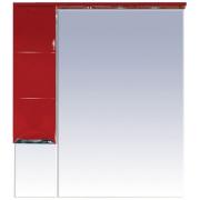 Misty Зеркальный шкаф Петра 90 красный L