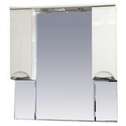 Misty Зеркальный шкаф Жасмин 105 белый, эмаль