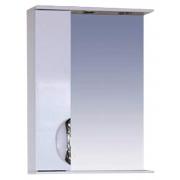 Misty Зеркальный шкаф Жасмин 55 L белая пленка