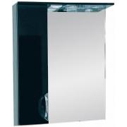 Misty Зеркальный шкаф Жасмин 55 L черная пленка